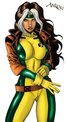 Rogue... she was my favorite. She so stole my natural hair colors (birth mark) and style, but I still think she ROCKS!!!!!