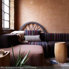 Farbgestaltung Fr Ein Schlafzimmer In Den Wandfarben Rubinrot