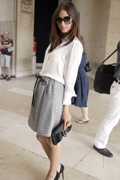 Olivia Palermo | July 2010 | At the Giorgio Armani Privé show