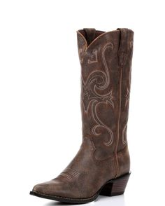 <p>The womens Crush Jealousy Boots from Durango offer a stylish and durable cowgirl boot. The bomber brown, full-grain leather upper and stitched designs with a pointed toe and cowgirl heel provide a classic, stylish and cowgirl boot look. Comfort comes standard in these boots with a composition rubber outsole, tempered steel shank, and a cushion flex insole.</p>