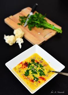 Zupa - Krem z kalafiora z imbirem i pietruszką