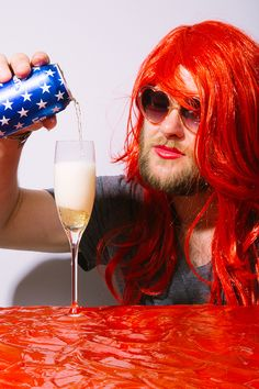 Bud Light Champagne and ketchup river  // Fourth of July  photography - conceptual - food - art - Allie Wist