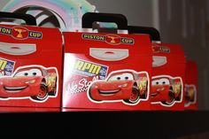 Cars birthday party goodie bag (box)
