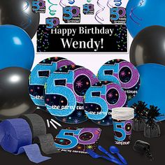 These The Party Continues at 50 Party Supplies will make showing your fiftieth birthday guests a FUN time both easy and affordable.