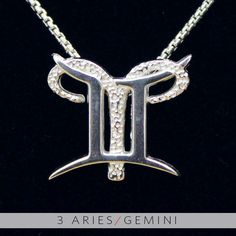 3 Aries and Gemini Silver Unity Pendant. $59.99, via Etsy.