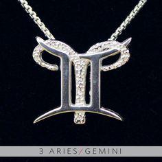 3 Aries and Gemini Silver Unity Pendant. $59.99, via Etsy.