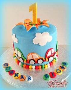 cars cake first birthday colorful explosion cake boy Auto Torte erster…