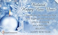 Belated New Year Greetings Wishes Cards