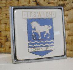 "Vintage 1960/70s""Ipswich Town Football Club""Car Badge,Grill Badge,Suffolk,AA,RAC"