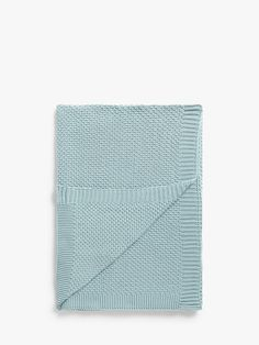 Buy Powder Blue John Lewis & Partners Textured Knitted Throw from our Throws, Blankets & Bedspreads range at John Lewis & Partners. Color Powder, Knitted Throws, Above And Beyond, Cotton Style, How To Apply, How To Make, John Lewis, Colours, Texture