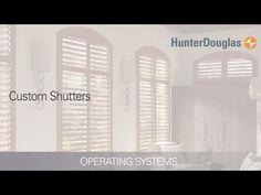 Custom Plantation Shutters - Operating Systems - Hunter Douglas