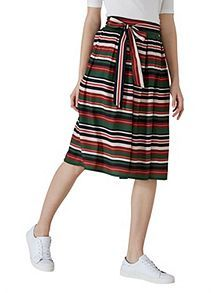 View product Hallhuber Striped midi skirt with belt