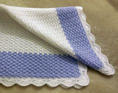 "Crochet Pattern - Baby Blanket / Afghan - ""Winter Frost"" - Fast and Easy"
