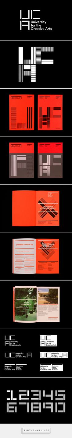 New visual identity for UCA | by Spin - Not only is this branding great, but Spin and UCA are doing the sustainable thing by sticking the new identity on top of the old one instead of trashing it : http://www.creativereview.co.uk/cr-blog/2015/march/a-new-look-for-uca