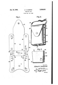 Military carrying case bag pattern