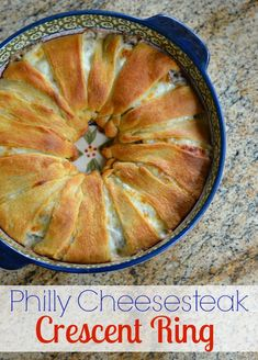 I just love easy & delicious recipes - and this Philly Cheesesteak Crescent Ring is a real doozy!