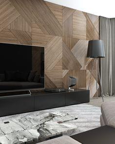 Home Living Room, Living Room Decor, Interior Design Your Home, Wall Panel Design, Estilo Interior, Drawing Room Interior, Living Room Tv Unit Designs, Dark Interiors, Luxurious Bedrooms