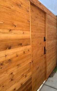 coastal privacy fence ideas - Google Search Privacy Fences, Coastal Farmhouse, Fence Ideas, Garage Doors, Google Search, Outdoor Decor, Home Decor, Decoration Home, Room Decor