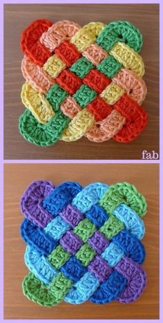 How to Crochet a Solid Granny Square - Crochet Ideas Crochet Celtic Knot Square. How to Crochet a Solid Granny Square – Crochet Ideas Crochet Celtic Knot Square Free Pattern Crochet Potholder Patterns, Granny Square Crochet Pattern, Crochet Squares, Crochet Stitches, Crochet Granny, Granny Squares, Afghan Patterns, Free Crochet Square, Granny Granny