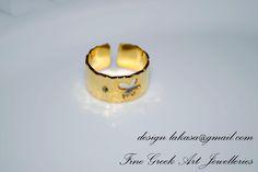 Δαχτυλίδι ασημένιο 925, επιχρυσωμένο. chevalie.