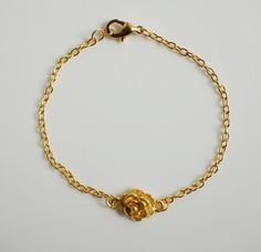 Gold plated  Rose  bracelet