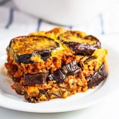 My eggplant beef casserole is light on the wallet but big on taste. It also saves you tons of time, making it a great option for a midweek dinner idea. I grew up in the Midwest so that means I grew up eating casseroles. Casseroles are traditionally one-pot meals: meat, vegetables, and starches...