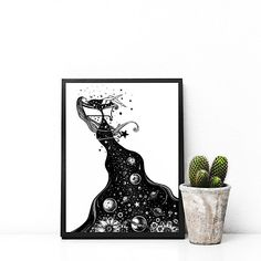 Hey, I found this really awesome Etsy listing at https://www.etsy.com/listing/584648086/the-bath-original-illustration-space-ink