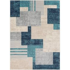Surya City Aqua Indoor Mid-Century Modern Area Rug (Common: 9 x Actual: W x L) at Lowe's. The simplistic yet compelling rugs from the City Collection effortlessly serve as the exemplar representation of modern decor. The meticulously woven Contemporary Area Rugs, Modern Area Rugs, Beige Area Rugs, Modern Contemporary, City Rugs, Marine Blue, Rug Material, Indoor Rugs, Throw Rugs