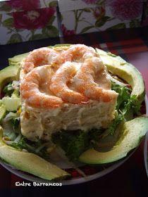 Entre Barrancos (COCINA): Pastel de langostinos Quiches, Tapas, Canapes, Cilantro, Sushi, Seafood, Buffet, Food And Drink, Menu