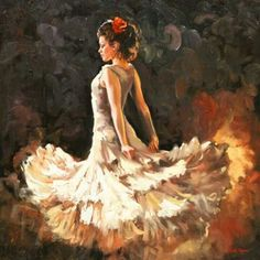 """WHITE FLAMENCO FLAME"" MARK SPAIN"
