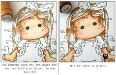 Handgemacht: Haare kolorieren mit Copics