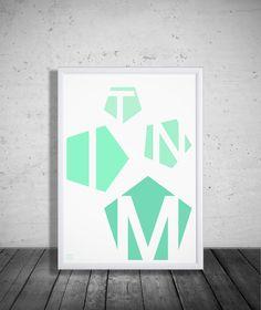 """""""Mint""""/ Typografia w kolorze miętowym"""