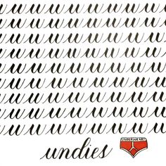 U is for undies 🖒 . Brush Lettering, Brush Pen, Words, Instagram, Horse