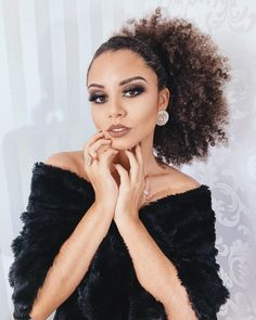 thousand likes, 751 comments – Ana Lídia Lopes (Ana Lídia Lopes) at Ins … - Modern Afro Hair Tips, Curly Afro Hair, Black Curly Hair, Long Curly, Curly Ponytail, Kinky Hair, Black Girls Hairstyles, Curled Hairstyles, Weave Hairstyles