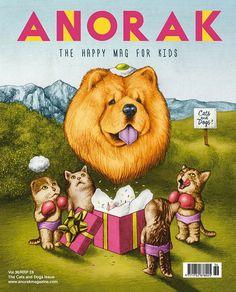 Anorak Magazine Cover for Anorak Magazine, english magazine for kids, vol. 36 Technique : pencil on paper, computer colors. Date : 2015