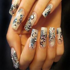 Acrylic Nail Designs 2013 | 3d Acrylic Nail Art Designs 2013 | Fashion Style & Beauty