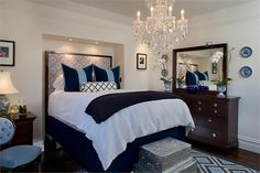 Nice tall bed  Relaxing Transitional Bedroom by Tineke Triggs on HomePortfolio