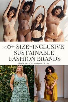 Sustainable Fashion Brands Sustainable Clothing Brands, Sustainable Fashion, Sustainable Style, Ethical Fashion Brands, Ethical Clothing, Plus Size Underwear, Fair Trade Fashion, Eco Friendly Fashion, Fashion Labels