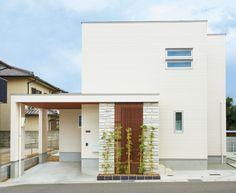 【検索結果】わが家の壁サイト-外観・内壁コーディネートサイト(ニチハの住宅施工例集)- Study Interior Design, Small House Exteriors, Minimal Home, Art Deco Home, Japanese House, Spanish Style, House Rooms, Exterior Design, Interior Architecture