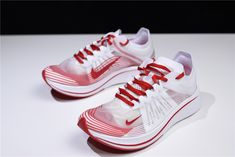 4c167d2f17b5b WMNS Nike Zoom Fly SP White University Red-Summit White AJ8229-100 For