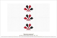 Folk Embroidery, Embroidery Patterns, Cross Stitch Patterns, Simple Cross Stitch, Pearler Beads, Needle And Thread, Beading Patterns, Pixel Art, Folk Art