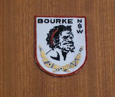 CLOTH BADGE / PATCH .. BOURKE .. N.S.W.