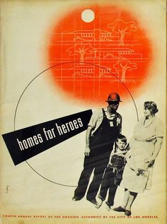 Alvin Lustig for the LA housing authroity 1942.  (See California Design, Kaplan).