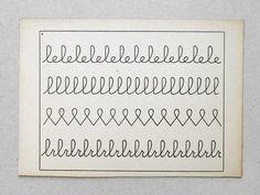 Handwriting card.