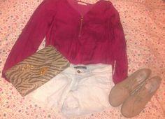 Lefties shorts, HyM rings and clutch, bershka shirt and C'M Paris heels.