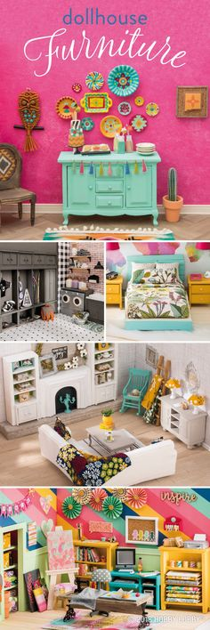 Tiny details make a big impact with updated dollhouse items!