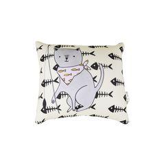 Almofada Gatinho Pescando Pet Meu Pet by Sofi Roux. #petmeupet #gato #almofada #casa #decoracao #design #promocao