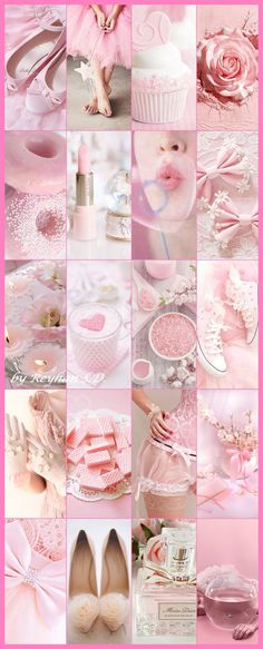 Pink '' by reyhan s. Pink Wallpaper Iphone, Aesthetic Iphone Wallpaper, Princess Aesthetic, Pink Aesthetic, Pink Love, Pretty In Pink, Color Collage, Beautiful Collage, Everything Pink