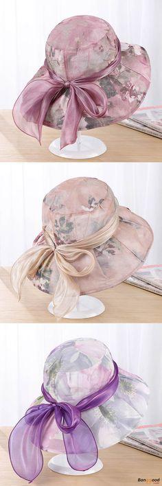 US$8.49+Free shipping. Summer Sun Hat, Pattern: Printing flowers, Function: UV-Protection, Sunscreen. Color:Dark Purple,Purple,Pink,Blue,khaki.