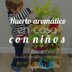 PEQUEfelicidad: HUERTO AROMÁTICO EN CASA ¡CON NIÑOS!. Reto 4 de primavera para niños